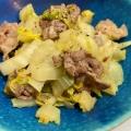 豚肉と白菜のコンソメチーズ炒め