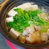 昆布だしが旨い! 「鶏湯豆腐&つけダレ」
