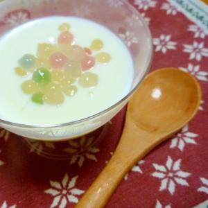 ミルク感たっぷり!タピオカヨーグルトのデザート