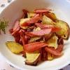 さつま芋とウインナーのカリカリ炒め