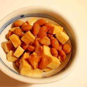 ダイエッタァ~の自己満足 高野豆腐と黒酢で納豆