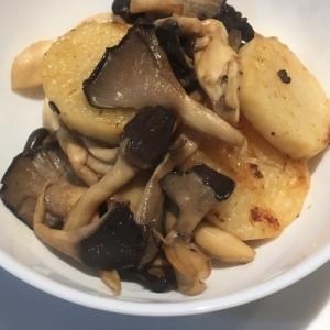 平茸と長芋のバター醤油焼き