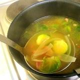 芽キャベツのコンソメスープ