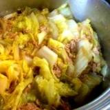 ご飯のおかずになる白菜のシーチキン煮
