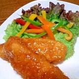 鶏ささみの甘酢ダレ