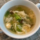 ごま油香る♪レタスと卵の中華スープ