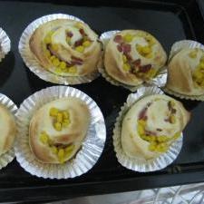 わが家の調理パン(コーン、ベーコンなど)