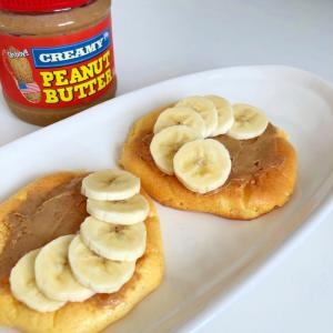 クラウドブレッド  ピーナッツバターとバナナ ♪