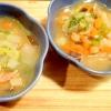 野菜を食べる洋風味噌汁