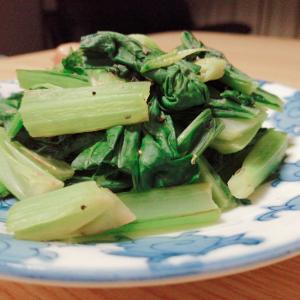 簡単!小松菜のハーブソルト炒め