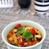 夏野菜のスープパスタ