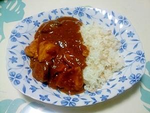 濃厚!鶏むね肉と茄子のトマトカレー++