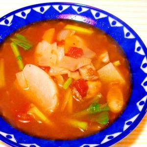 カブといろいろ具材の田舎風スープ