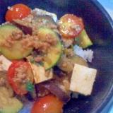 夏野菜のカレー麻婆豆腐