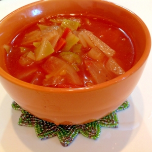 ダイエット 具だくさん トマト スープ