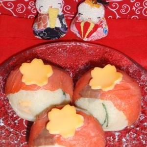 ひな祭り!スモークサーモンの手まりポテサラ