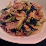 豚肉と小松菜のさっぱり炒め