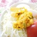 かぼちゃだけの味噌マヨ炒め和えサラダ