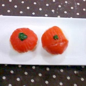 クリチとスモークサーモンの手まり寿司