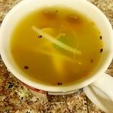 さつまいもと長ネギのグリーンカレースープ
