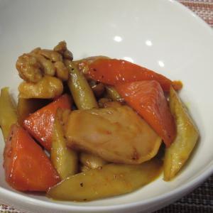 カレー風味!鶏肉と根菜の煮物