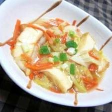 生姜風味★キャベツと厚揚げのうま煮