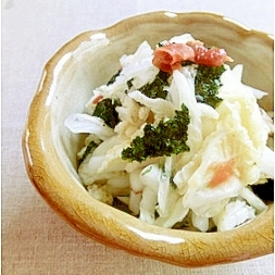 白菜の梅昆布海苔和え✿