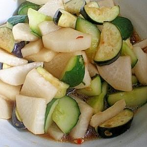 夏は辛旨!夏野菜の簡単ぴり辛和え