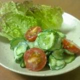 きゅうりとミニトマトのサラダ♪