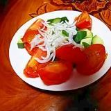 きゅうりミニトマトしらすサラダ