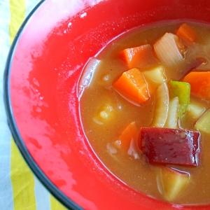 カレールー1つで作る野菜スープ
