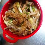 肉野菜炒めどんぶり弁当