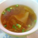 とろ旨♪白菜とシイタケのワンタンスープ