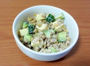 レンズ豆のカレーマヨ和えサラダ