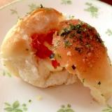 クリームチーズとドライトマトのおつまみパン
