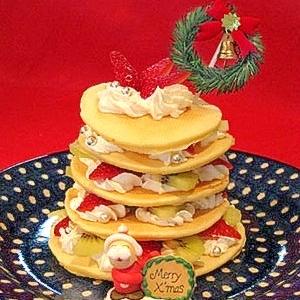 パンケーキミックスでXmasゴージャスタワーケーキ