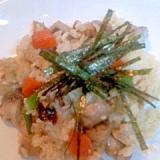 お煮しめで五目寿司風