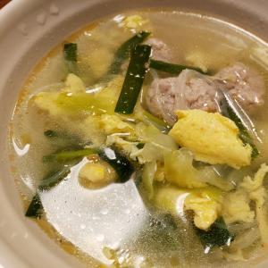 春雨入り!にらと肉団子の卵スープ