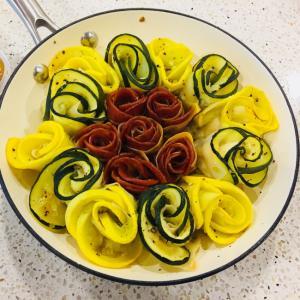 ズッキーニとペパロニのオーブン焼き