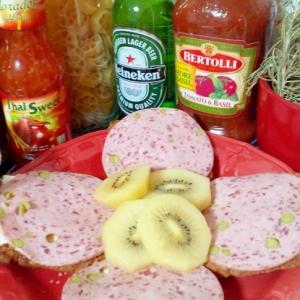 グリンピース牛タン入りリオナソーセージのパン☆