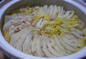 めんつゆで☆豚バラと白菜のミルフィーユ鍋