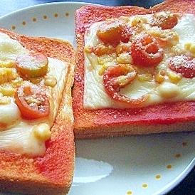 ミニトマト&コーンのせチーズトースト★