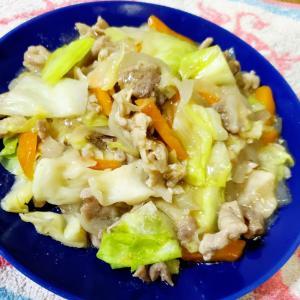 とろみ野菜炒め