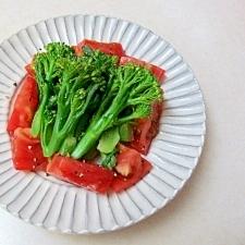 *ブロッコリーとトマトのオイルサラダ*