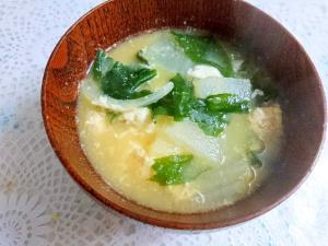 冬瓜と卵の味噌汁