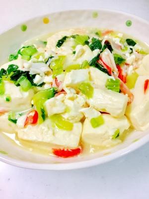 豆腐と青梗菜の中華煮