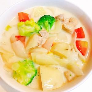 冬はこれ☆白菜とブロッコリのチキンクリームシチュー
