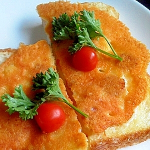 カリッカリ♪中はとろーり 焼きチーズトースト♪