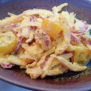 塩麹ゆで卵で ❤紫玉葱とイエロートマトの卵サラダ❤
