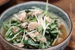 鶏と水菜の炒め煮